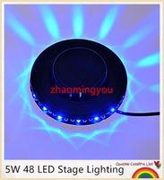 Wholesale 2016 Fashion Bar Club Party W LED Stage Lighting Show Disco DJ Laser Light Colorful KTV Rotary Stage Light EU US plug