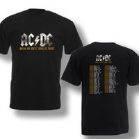 band tour shirts - AC DC Rock or Bust World Tour Black Men Tshirt Music Band Concert Men s Cotton Tee Shirt Plus Size Front And Back Printing