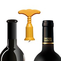 Cheap T-Shaped Wide Handle Corkscrew Red Wine Cork Bottle Opener Happy Man Kitchen Bar Accessory Novelty Opener Creative Gift