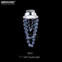 Wholesale LED Crystal hanging lamp watt Small Red Blue Black Crystal chandelier Light for Aisle Hallway corridor Staircase Light lustre