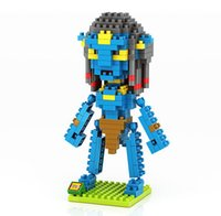 avatar factory - Factory LOZ Diamond Avatar Movie Series Pandora Jake Sully Diamond Bricks Minifigures Building Block Minifigure Toy Kid Toy For Gift