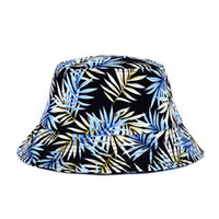 Wholesale New Fashion Leaf Banana Leaves Printing Bucket Hat Hip Hop Bob Bucket Hats unisex for men women Chapeu Cap Bonnet Accessories