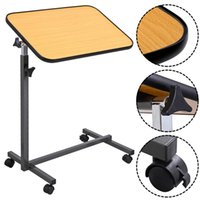 Wholesale Over Bed Laptop Food Tray Hospital Desk With Tilting Top