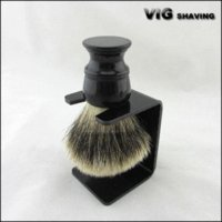 badger brush knots - 26mm knot Black resin handle Finest badger brush shaving with free stand brush wire brush effects