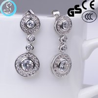 Wholesale The newest pure silver needle hypoallergenic fashion sweet length Earrings Stud Earrings jewelry for ladies