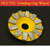 abrasive stone cup - 6 Diamond grinding wheel mm Concrete granite stone abrasive CUP disc thick and high tooth more durable