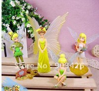 Wholesale By DHL Christmas Gift Anime Tinker Bell PVC Figure CartoonToy Model Figure Set set G1708