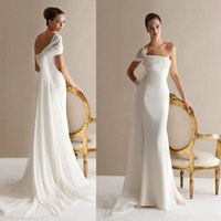 Cheap Sheath/Column wedding dresses Best Model Pictures 2016 Spring Summer wedding gowns
