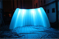 Wholesale inflatable wall with led light for party event advertisment
