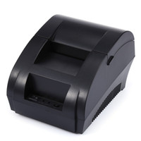 Wholesale New ZJ5890K Mini mm Black and White Printer POS Receipt Thermal Printer Built in Power Light with USB Port EU and CHINESE Plug