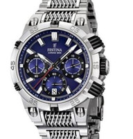 Wholesale Festina F16774 Men s Quartz Watch LE TOUR DE FRANCE Chrono Bike Blue Dial Steel Strap CHRONOGRAPH Original Box