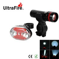 Wholesale UltraFire LED Mode Red Tail Light LED Mode White Zooming Flashlight Headlight Set for Bike
