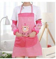 Wholesale New cartoon Waterproof apron cute apron with With sleeves