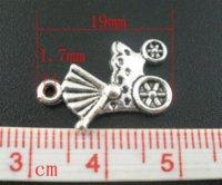 al por mayor carro antiguo-50 PCs de plata antigua Baby CarriageBuggy encantos colgantes 19x12mm Mr.Jewelry joyería de la antorcha de la joyería haciendo suministros encantos