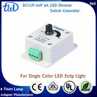 Wholesale DC12V A W Single Color Knob Switch LED Light Dimmer Controller for samsung LED Strip Lights