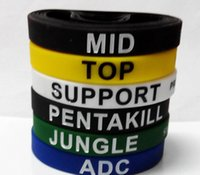 Wholesale New LOL bracelets League of Legends game skill cheerup wristband D silcone styles gift
