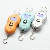Wholesale 50pcs KG g Electronic Balance Digital Hangging Fishing Pocket Scale Colors