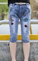 american canvas products - new hot European and American joker customizable butterfly pant jeans child tide Kids Baby Products e mail treasure