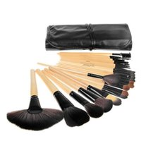 best goats - Professional Makeup Brushes Set Cosmetic Kits Makeup Tools Makeup Brush with leather bag brushes make up for you Best Gift