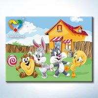 baby looney tunes - Looney Tunes Wall Art DIY Painting Baby Toys x40cm Artistical Canvas Oil Painting Drawing Wall Art for Hotel Decoration with SGS PONY CNA