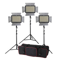 Kit d'éclairage Studio 3pcs Yongnuo YN900 3200-5500K CRI 95 + 900 LED Vidéo + Commande à distance + 2m Stand + bras de la flèche + sac de transport