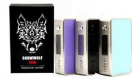 Wholesale MOQ DHL Blue Black Colors Snowwolf Mini W TC Box Mod Electronic Cigarette Sigelei Mini Snow Wolf W Mods vs iStick Pico Vapor