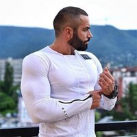 athletic fit shirts - 2016 new high quality tight fitting seamless men quots T shirt fashion summer mens fitness T shirt athletic sports shirt