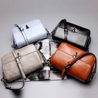 adjustable leather handbag strap - 2016 newest style lady handbag fashion Genuine cow Leather Flap shoulder woman trendy bag with adjustable shoulder straps