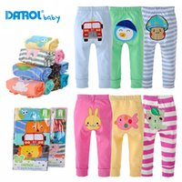 Wholesale Kute carton pure cotton baby long pants for spring
