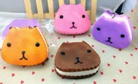 animal breads - 8 cm Kawaii animal kapibarasan jumbo squishy Pendant Squishies Bag Charm Keychain for Phone Squishy Bread