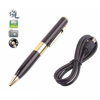 Wholesale USB Mini DV Pen Spy Camera Recorder Hidden Security Ball pen DVR Cam Video Recorder Silver Gold Colors