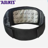 Wholesale AOLIKES Tourmaline Products Self heating Magnetic Waist Back Support Brace Belt Lumbar Warm Protector posture corrector abdomen