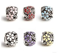 Wholesale a new Design of the Big Hole Spacer Beads Fit Charm Bracelet Jewelry DIY Metals Loose Beads
