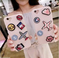 aircraft bags - Fashion Cute D Cartoon Aircraft Kiss Lips Soft Silicone Case Cover For iPhone S Plus splus New Phone Cases Bag Girls