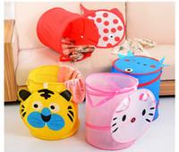 Wholesale Cartoon Oxford Cloth Storage Baskets Storage Bag Fit for Toys Clothes Etc