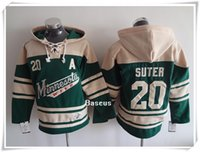 best quality sweatshirts - 2016 NHL ICE Hockey Hoodies Jerseys Men Wild SUTER parise Green Best quality stitching Jerseys Sports Hoodie sweatshirt Mix Order