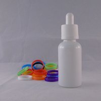 Wholesale 10 ml of e liquid bottle round Milk white plated glass child safety cap factory price