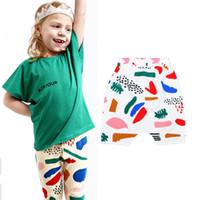 Cheap Retail Bobo Chose Baby Summer Shorts 2016 Kikikids Boy Girl Harem Shorts Cartoon Graffiti Children Short Pants Fashion Brand Kids Clothes