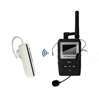 Wholesale TP WIRELESS UHF WTG05 Wireless tour guide system Wireless Earhook Receiver Wireless Translation System transmitter and receivers