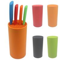 Wholesale Tool holder multifunctional plastic tool holder knife block knife stand sooktops tube shelf chromophous