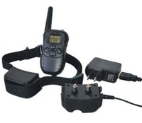 Wholesale 300M LCD LV Level Electric Shock Vibra Pet Dog Training Collar Waterproof And Rechargeable ZD082