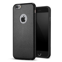 apple black hole - Ultra Slim TPU Leather Case For iPhone S quot S Plus TPU With Logo Hole phone Soft back Cover