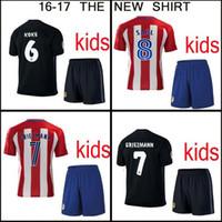 Wholesale Top thailand camisa atletico de madrides kids maillot soccer shirt Griezmann Torres camisetas de futbol maillot de foot