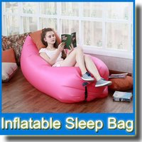 Wholesale 5 Colors Fast Inflatable Lazy Sleeping Sofa Bed Festival Camping Hiking Travel Hangout Beach Bag Bed