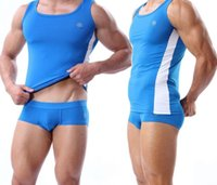 army wrestling singlets - Mens Body Building Underwear Blue Gym Outfit Wrestling singlet Hot Looking Workout Clothes