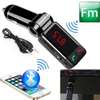Wholesale Bluetooth A Car charger Wireless Bluetooth mp3 Car Kit Handsfree MP3 Player FM Transmitter USB Charger mp3 car