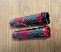 Wholesale Generic Motorcycle Scooter Performance CNC Carbon Fiber Handle Grips for mm handle bar