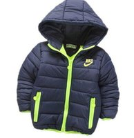 baby and children fashion wear - Fashion Baby autumn winter children hooded cotton padded jacket coat boys and girls leisure sport jacket kids winter wear