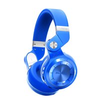 Wholesale Bluedio T2 fashionable foldable over the ear bluetooth headphones BT support FM radio SD card functions Music phone calls