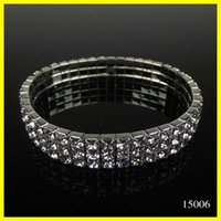 imitation jewelry - Free Ship Cheap Row Stretch Bangle Silver Rhinestones Cute Prom Homecoming Wedding Party Evening Jewelry Bracelet Bridal Accessories